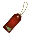 Christmas tree cartoon gift tag vector