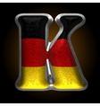 Germany metal figure k vector