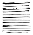 Set of black ink brushes vector
