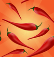 Chili peppers background vector