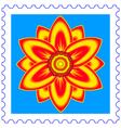 Flower stamp vector