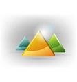 Three triangles fresh vector