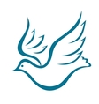Flying dove of peace vector