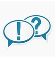 Question and answer marks with speech bubbles vector