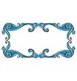 Aqua border frame vector