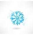 Snowflake grunge icon vector