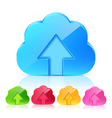 Set of upload cloud icons vector