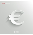 Euro icon - white app button vector