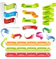 Stickers and banners set vector