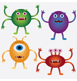 Cartoon microbes vector