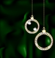 Jewelery christmas balls vector