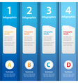 Blue folders infographic vector