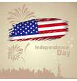 American flag independence day vector