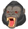 Angry gorilla head cartoon character vector