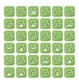 Set of emoticons space aliens vector