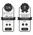 Outlined price tables vector