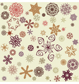 Retro snowflakes background vector