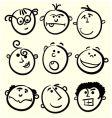 Cartoon face collection vector