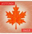 Autumn polygonal sale poster vector
