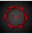Abstract red metal logo design vector