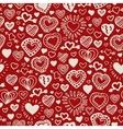Valentine hand drawn pattern vector