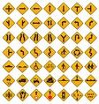 Warning traffic signs set vector