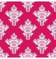 Floral seamless pink and white pattern vector