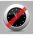 Gray chrome button - no clock vector