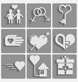 Set valentine day icons vector