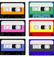 Cassete set vector