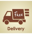 Truck free delivery vector