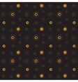 Golden rich floral seamless pattern on black vector