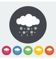 Snowfall single icon vector
