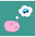 Piggybank car vector