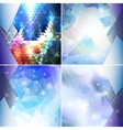 Abstract blue backgrounds set triangle design vector