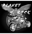 Planet of rock vector