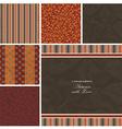 Vintage retro patterns vector