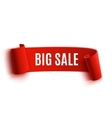 Red realistic detailed curved paper sale banner vector