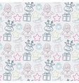 Abstract seamless christmas pattern vector