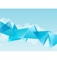 3d blue glass pyramid background vector