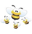 Cute cartoon bees vector