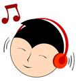 Music with headphones vector