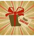 Retro christmas present card vector