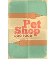 Pet shop poster tax vector