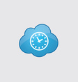 Blue time icon vector