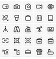 Photo and optical icons vector