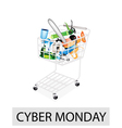 Craft tools in cyber monday shopping cart vector
