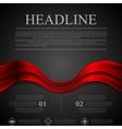 Dark red futuristic waves background vector