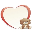 Teddy bear with frame vector