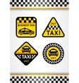 Racing background vertical and taxi - set retro vector